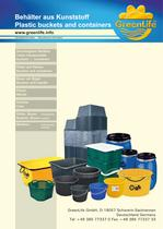 plastic buckets and containers