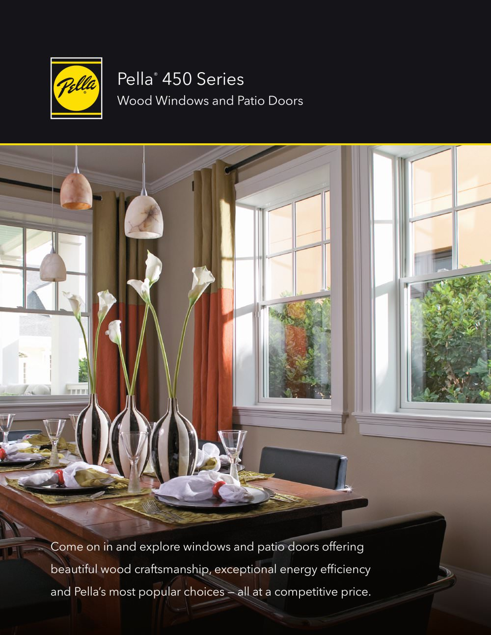 pella 450 series wood windows and patio doors 1 12 pages