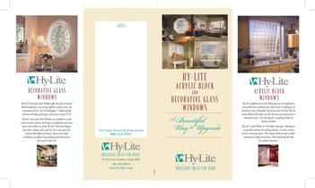 Hy-Lite Acrylic Block and Decorative Glass Windows
