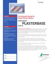 Fire-Resistant Drywall for  Veneer Plaster Finishe