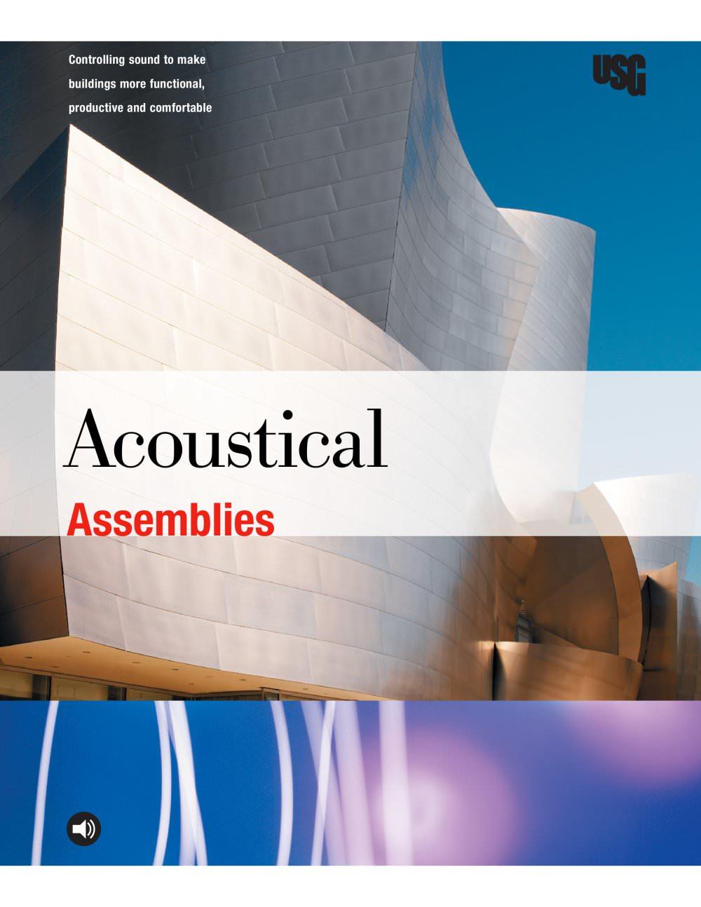 Usg acoustical assemblies brochure usg pdf catalogues usg acoustical assemblies brochure 1 40 pages dailygadgetfo Choice Image