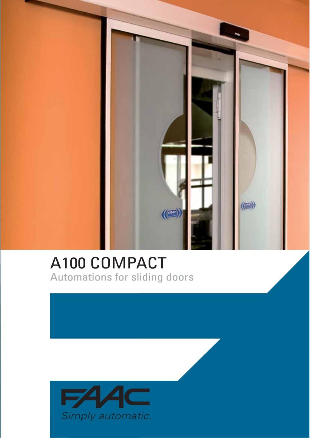 Sliding door s800 - Automatic Door A100 1 6 Pages