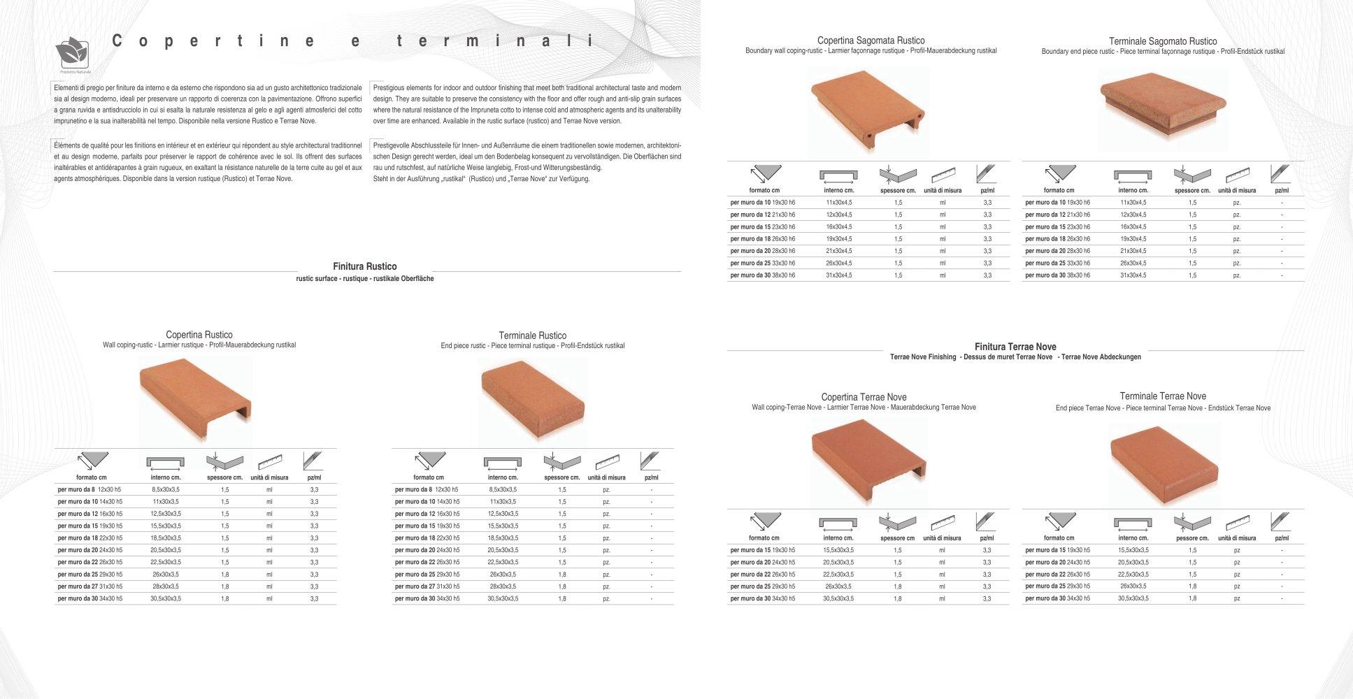 Coperture Muretti In Cotto.Copertine E Terminali Cotto Impruneta Pdf Catalogs