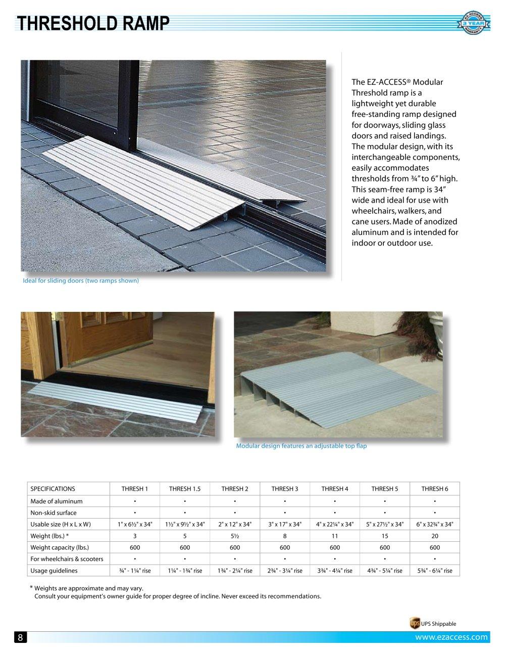 Threshold Ramp Ez Access Pdf Catalogues Documentation Brochures