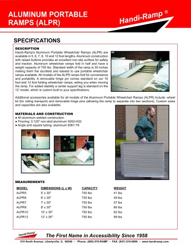 ALUMINIUM PORTABLE RAMPS - Handi-Ramp - PDF Catalogs