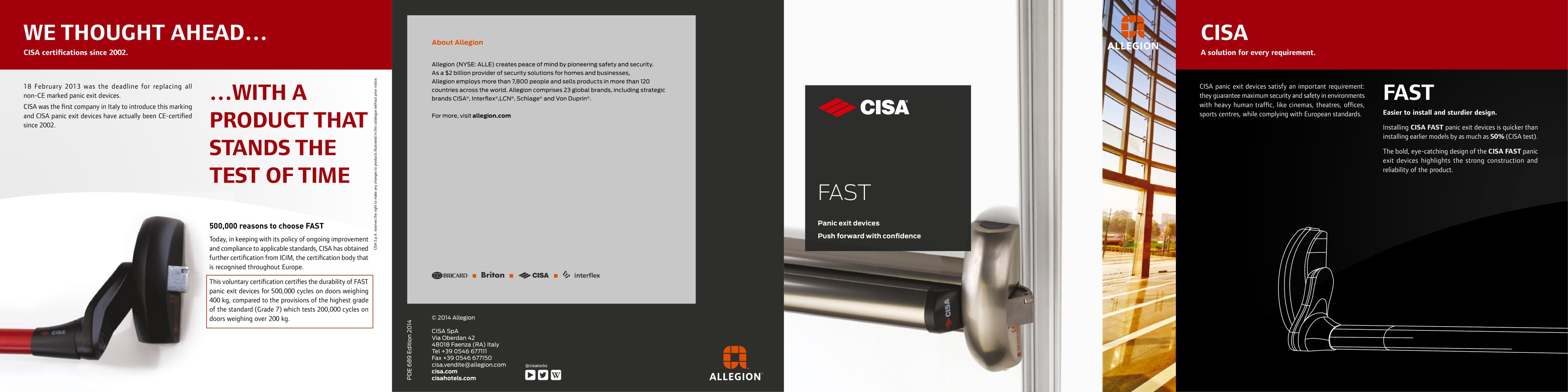 New Fast Cisa Pdf Catalogues Documentation Brochures