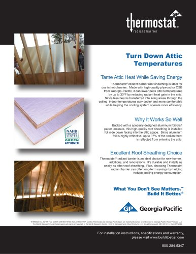 Oriented Strand Board:Thermostat OSB Radiant Barrier