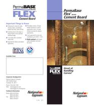 PermaBase Flex Cement Board