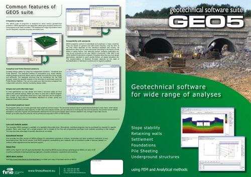 GEO5 leaflet - FINE - PDF Catalogs | Documentation | Brochures