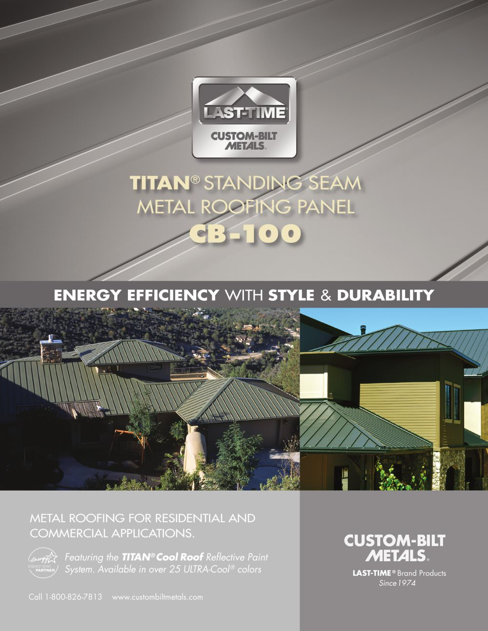TITAN® STANDING SEAM METAL ROOFING PANEL CB 100   1 / 2 Pages