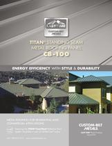  TITAN&reg;  STANDING SEAM METAL ROOFING PANEL CB-100