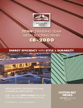  TITAN&reg;  STANDING SEAM METAL ROOFING PANEL CB -2000