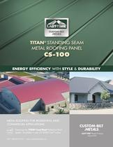  TITAN&reg;  STANDING SEAM METAL ROOFING PANEL CS-100