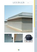 High performance ventilation louvres