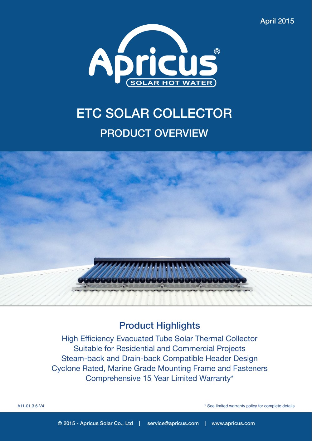 ETC SOLAR COLLECTOR PRODUCT OVERVIEW - APRICUS - PDF Catalogues ...