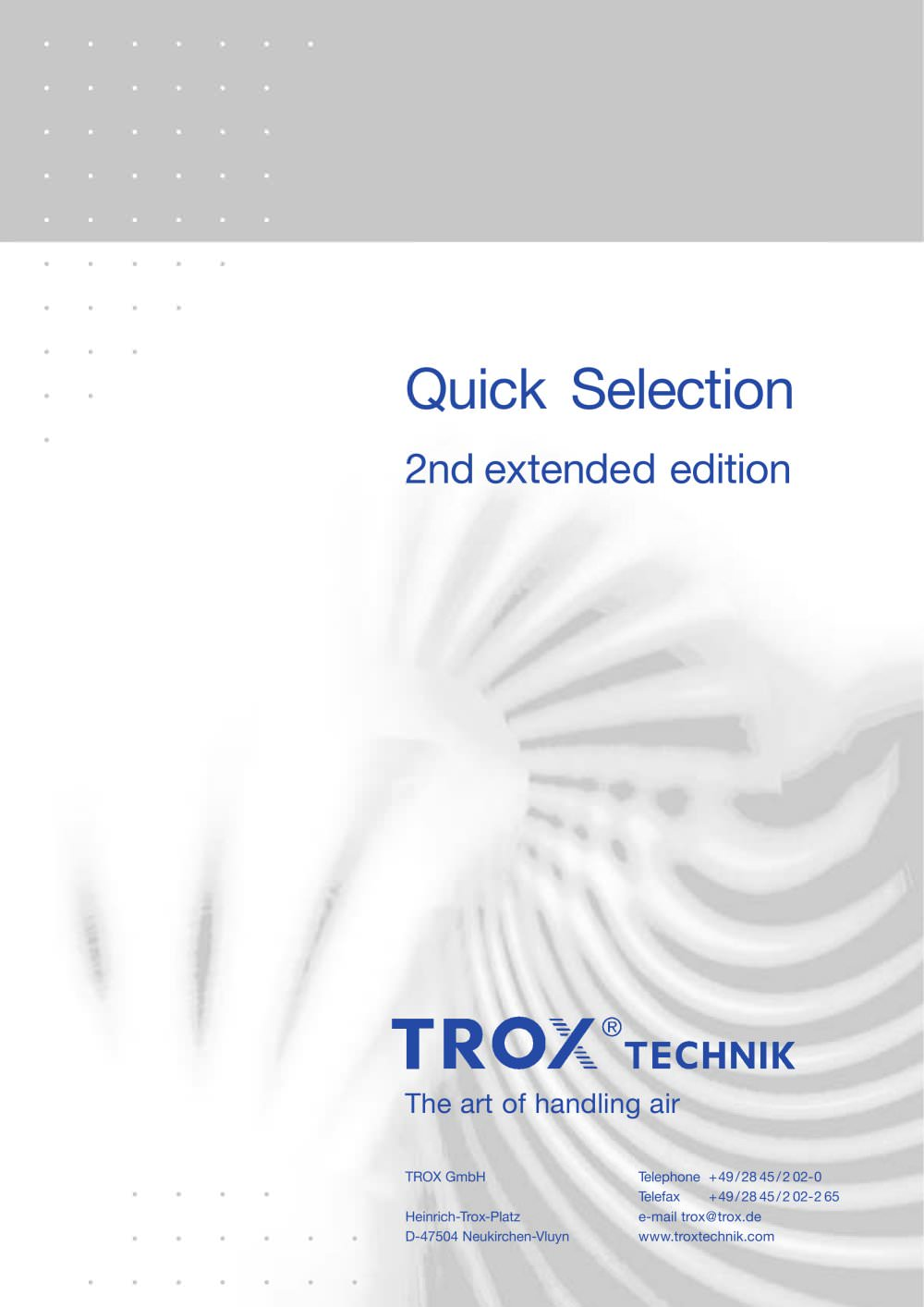 Trox quick selection guide