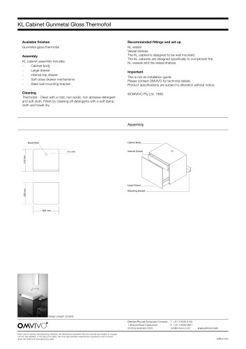 OMVIVO SPECIFICATION CATALOGUE