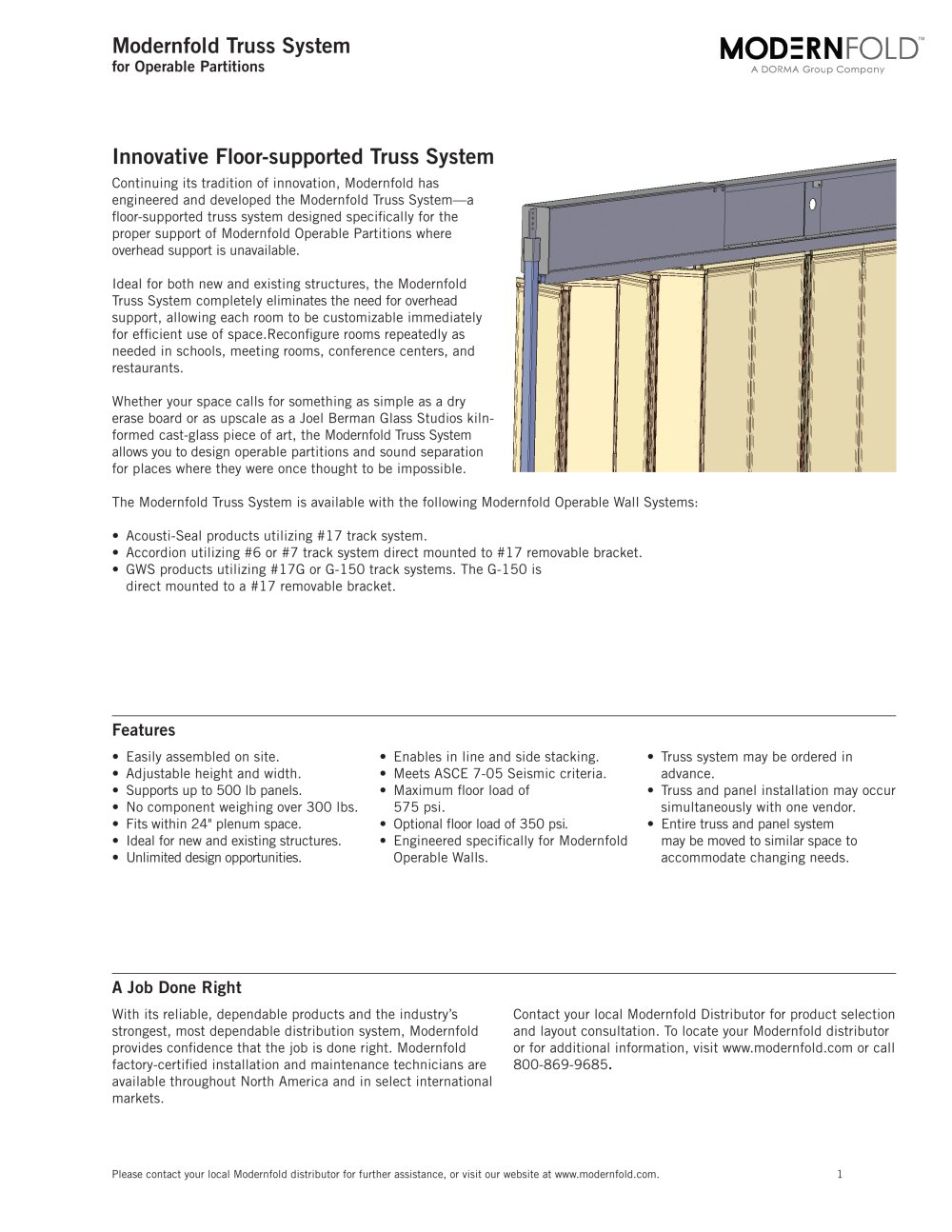 modernfold truss system 1 4 pages