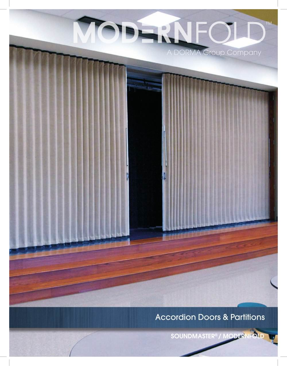 Soundmaster® / Modernfold® Accordion Doors u0026 Partitions - 1 / 8 Pages & Soundmaster® / Modernfold® Accordion Doors u0026 Partitions ... pezcame.com