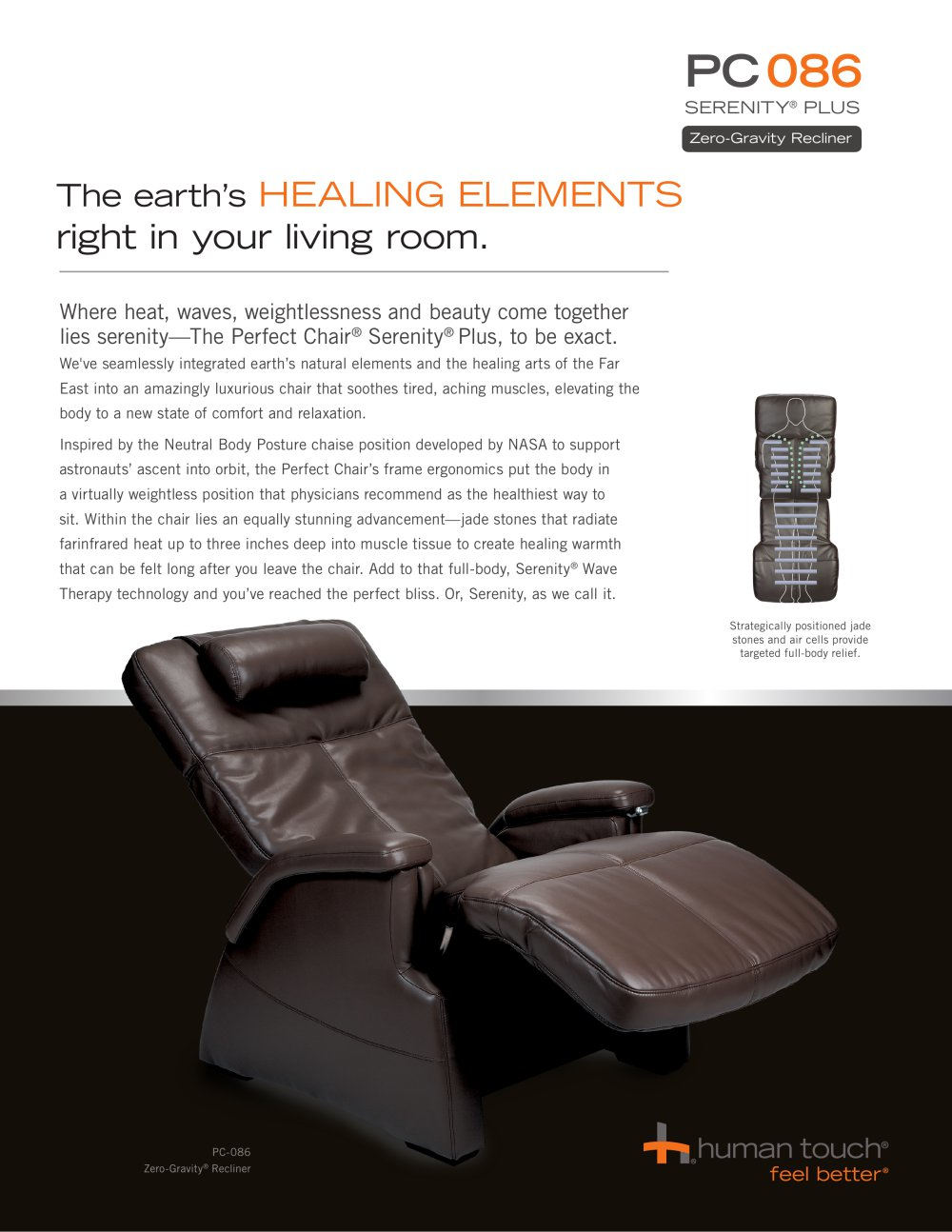 PC 086 Perfect Chair® Serenity® Plus Recliner   1 / 2 Pages