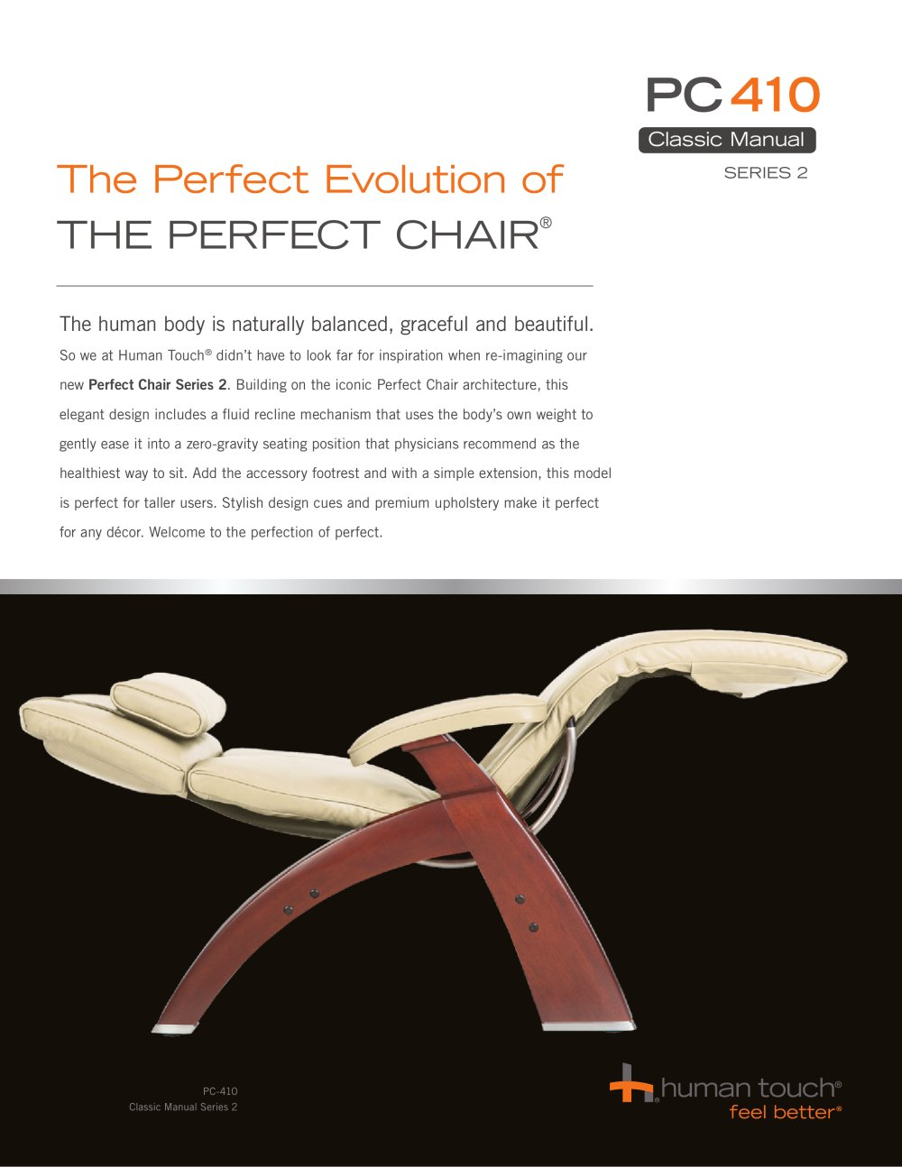 Perfect Chair Recliners:PC 410 Classic Manual Zero Gravity   1 / 8 Pages