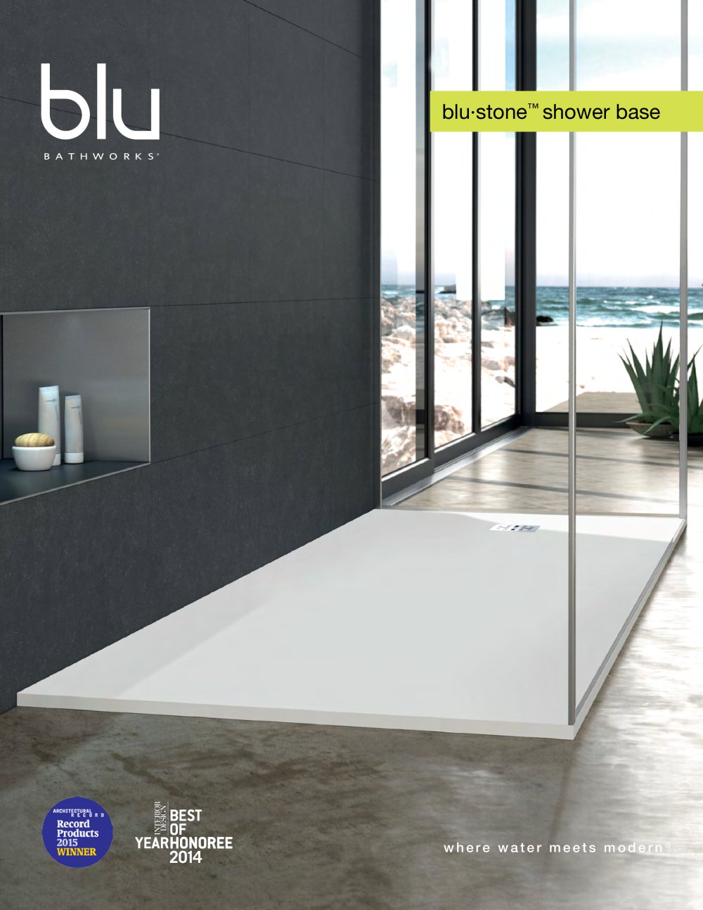 Beau Blu Bathworks Blu·stone™ Shower Base   1 / 11 Pages