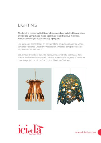 ICI ET LÀ - Lighting - Collection 2013