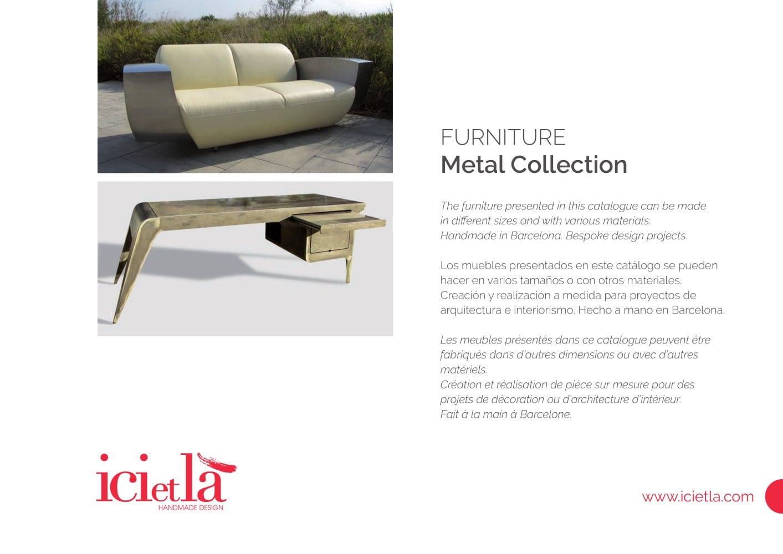 Ici Et L Muebles De Metal Colleci N 2016 Ici Et La Pdf  # Muebles Handmade
