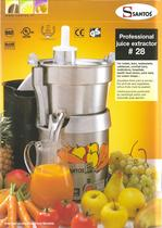 PROFESSIONAL JUICE EXTRACTOR N&deg;28