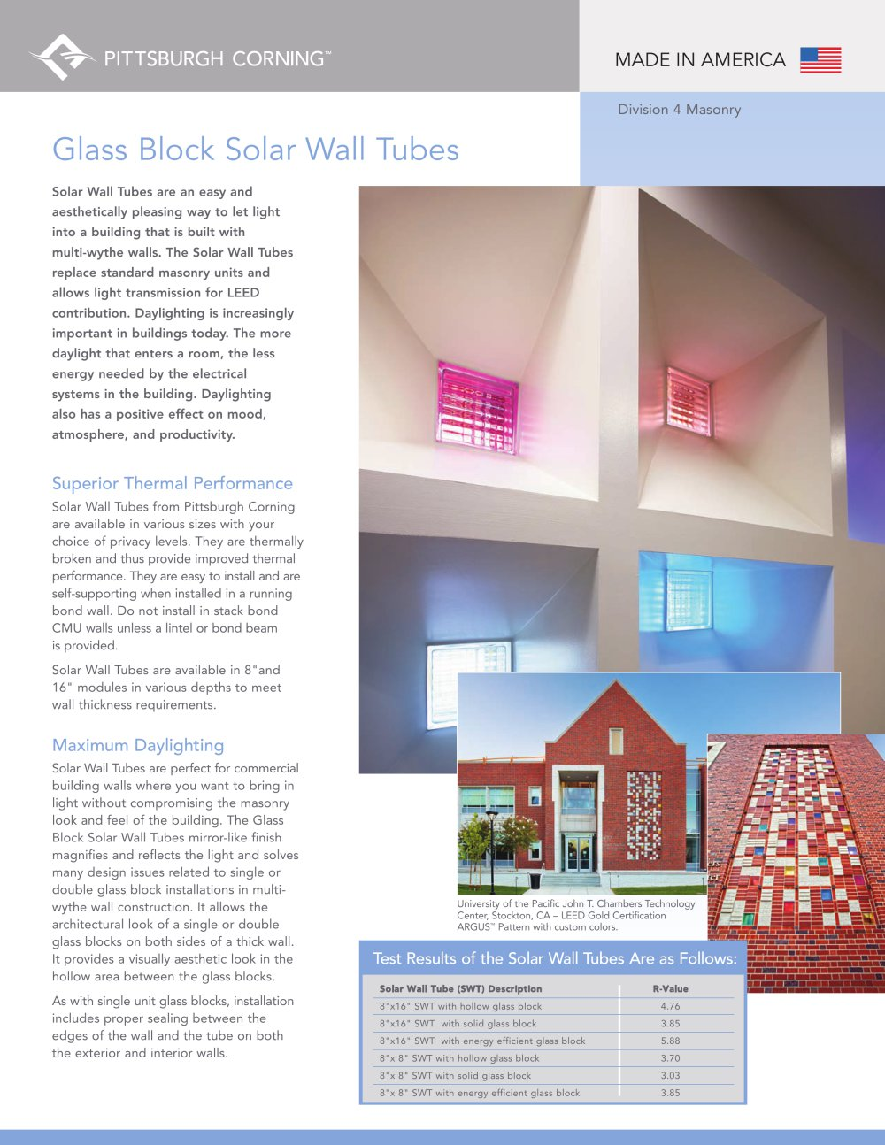 glass block solar wall tubes 1 2 pages