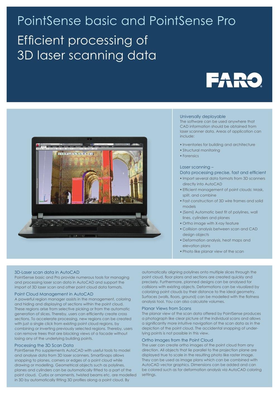 PointSense basic and PointSense Pro - faro - PDF Catalogues ...