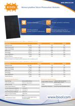 Monocrystalline PV Modules Datasheet
