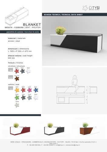 BLANKET SEAT PLANTER - CITYSI srl - PDF Catalogs | Documentation