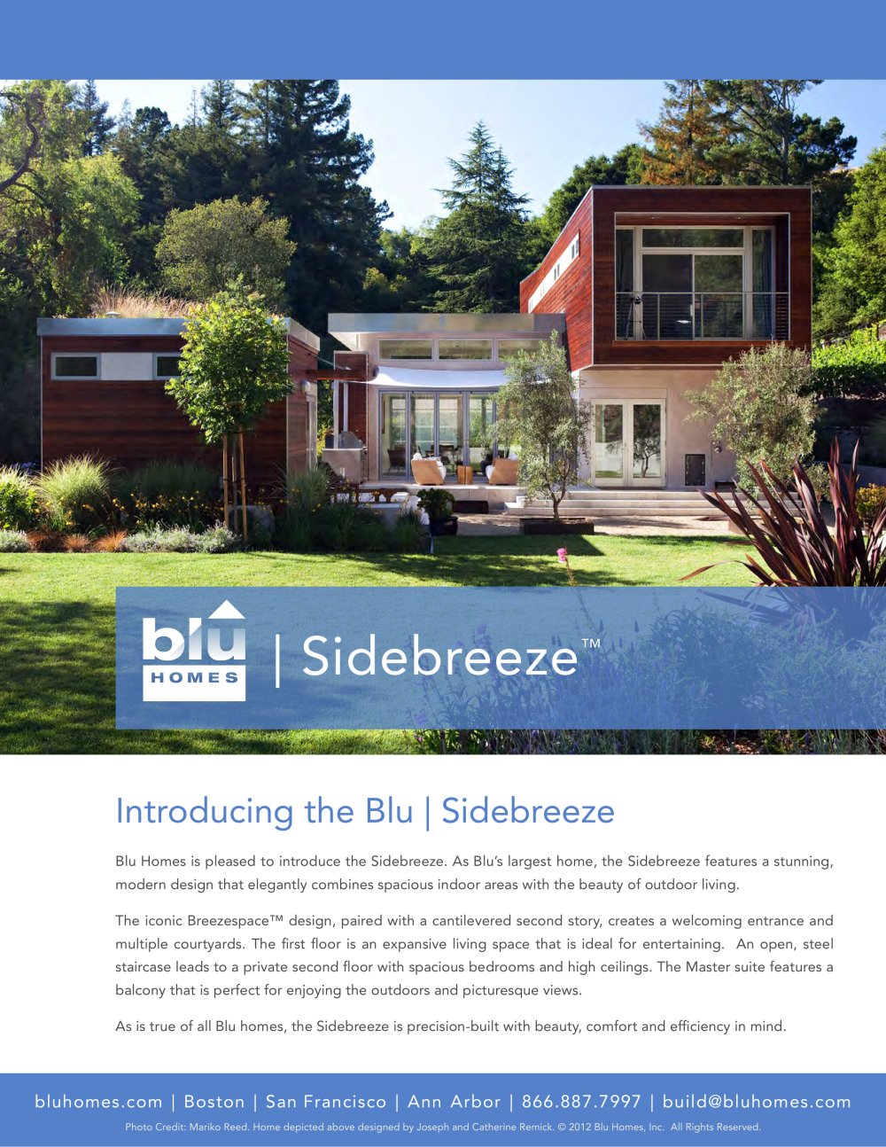 Blu homes sidebreeze brochure 1 4 pages