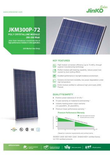 Standard Module for US:JKM300P-72(280W~300W) US - Jinko solar - PDF