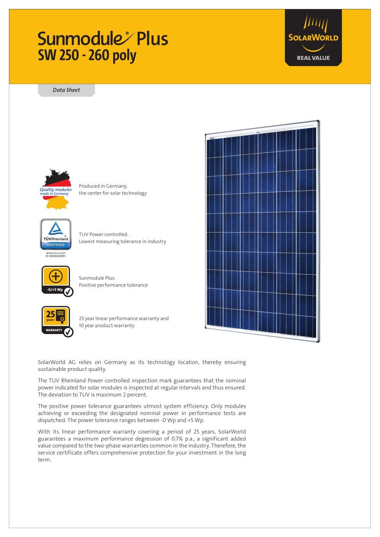 Solarworld sw 250