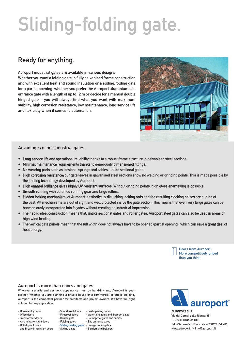 Sliding-folding gate - Auroport GmbH - PDF Catalogues ...