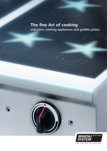 Induction cooking appliances and griddle plates