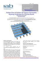  Solitex Plus &amp; Solitex UD Vapour Permeable  Roofing Underlays for Pitched Roofs
