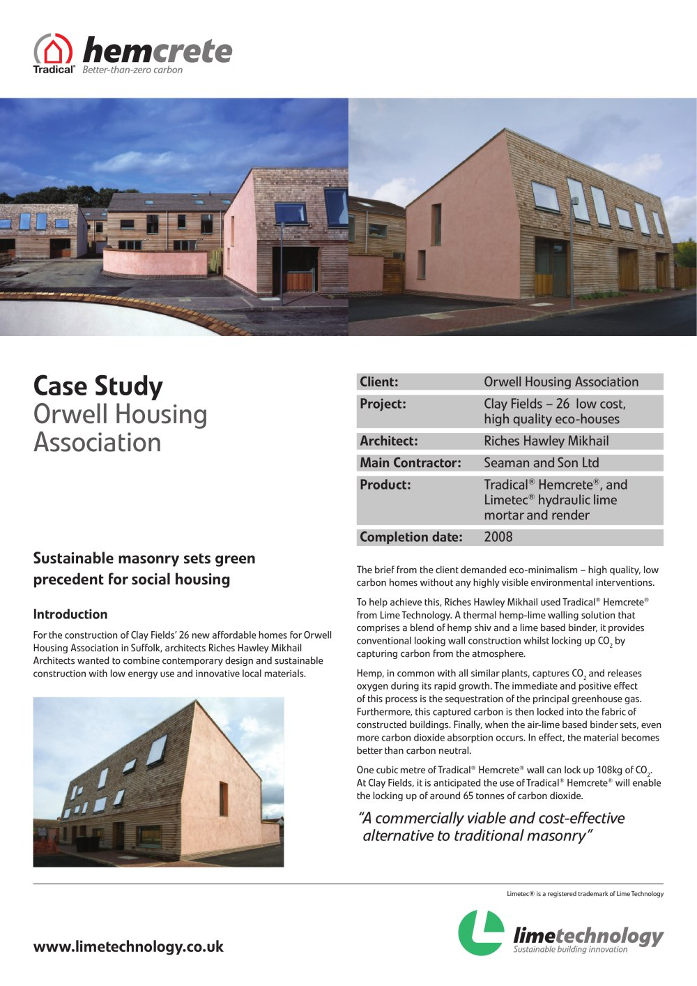 Case Study Orwell Housing Association - 1 / 2 Pages
