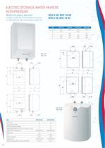 ELECTRIC STORAGE WATER HEATERS NON-PRESSURE