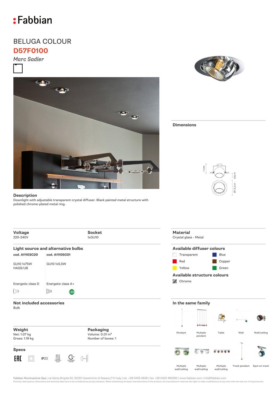 D57 Beluga Colour - FABBIAN ILLUMINAZIONE - PDF Catalogues ...