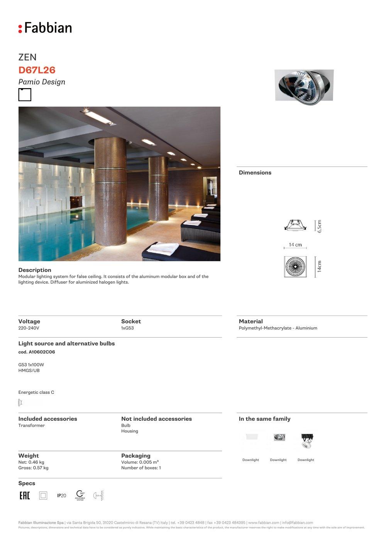 D67 L26 - FABBIAN ILLUMINAZIONE - PDF Catalogs | Documentation ...