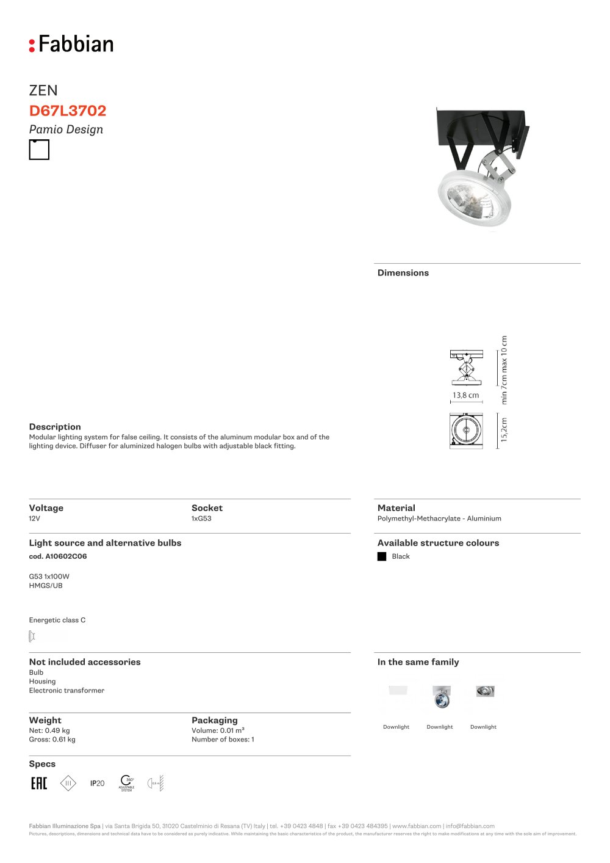 D67 L37 02 - FABBIAN ILLUMINAZIONE - PDF Catalogues | Documentation ...