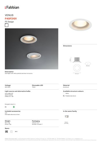F40 F21 01 - FABBIAN ILLUMINAZIONE - PDF Catalogs | Documentation ...
