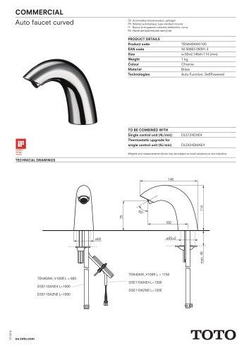 AUTOFAUCET CURVED - TOTO Europe GmbH - PDF Catalogs   Documentation
