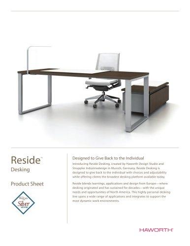 Product Sheet Reside Desking