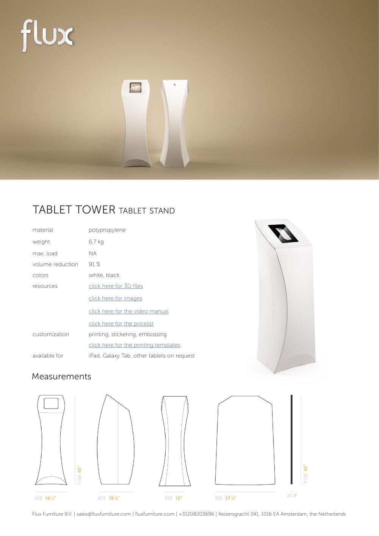 FLUX TABLET TOWER - Flux - PDF Catalogues | Documentation | Brochures