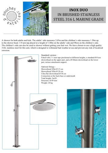 INOX	DUO IN BRUSHED STAINLESS STEEL 316	L	MARINE	GRADE