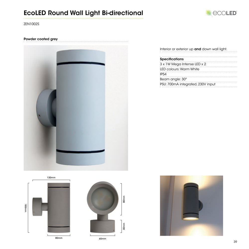 Ecoled round wall light bi directional led uplight ecoled pdf ecoled round wall light bi directional led uplight 1 1 pages mozeypictures Image collections